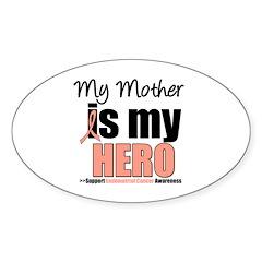 EndometrialCancerHeroMother Oval Sticker (50 pk)