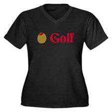 Olive (I Love) Golf Women's Plus Size V-Neck Dark