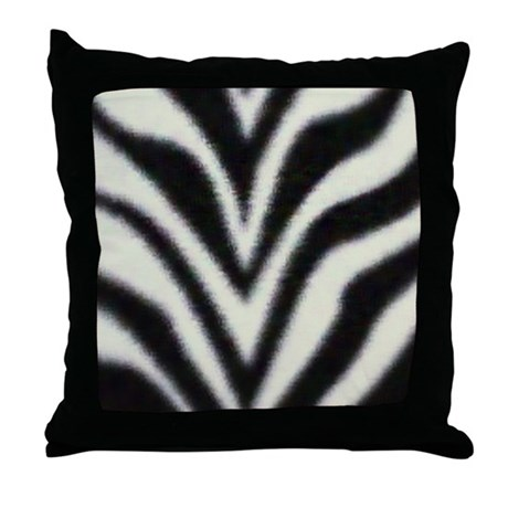 """Zebra Print"" Throw Pillow"