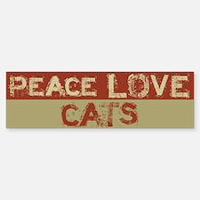 Peace Love Cats Bumper Bumper Bumper Sticker