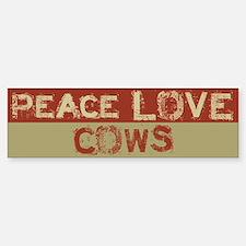 Peace Love Cows Bumper Bumper Bumper Sticker
