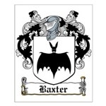 Baxter Coat of Arms Small Poster