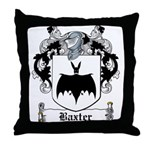 Baxter Coat of Arms Throw Pillow
