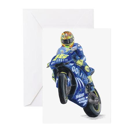 Racing Biker #2 Greeting Cards (Pk of 10)