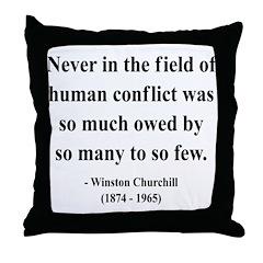 Winston Churchill 12 Throw Pillow