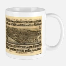 Vintage Pictorial Map of Bristol RI (1891) Mugs