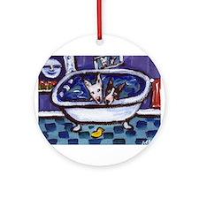 Bull Terrier bath Ornament (Round)