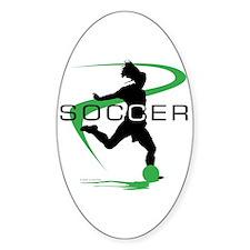 Soccer Oval Bumper Stickers