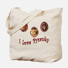 I Love Pysanky Tote Bag