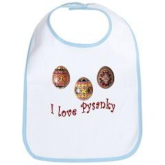 I Love Pysanky Bib