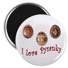 I Love Pysanky Magnet