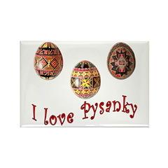 I Love Pysanky Rectangle Magnet
