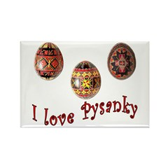 I Love Pysanky Rectangle Magnet (100 pack)