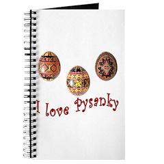 I Love Pysanky Journal