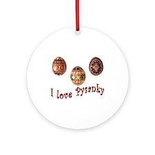 I Love Pysanky Ornament (Round)