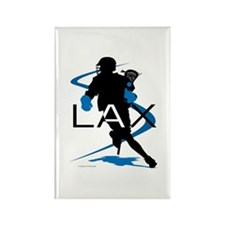 Lacrosse Rectangle Magnet