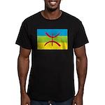 Berber Flag Men's Fitted T-Shirt (dark)