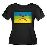 Berber Flag Women's Plus Size Scoop Neck Dark T-Sh