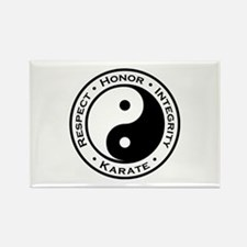 Respect Honor Integrity Karate Rectangle Magnet