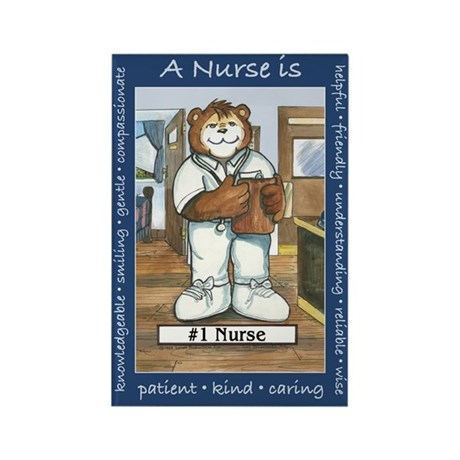 Male Nurse Rectangle Magnet
