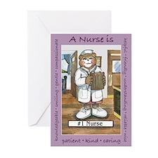 Female Nurse Greeting Cards (Pk of 10)