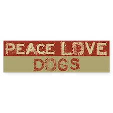 Peace Love Dogs Bumper Bumper Sticker