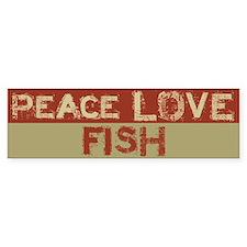 Peace Love Fish Bumper Bumper Sticker