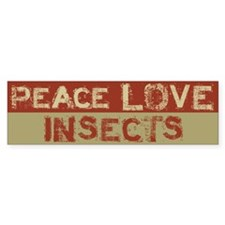 Peace Love Insects Bumper Car Sticker