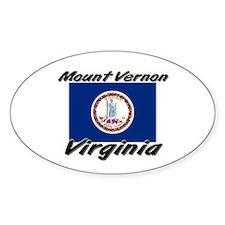 Mount Vernon virginia Oval Decal
