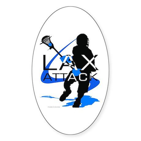 Lacrosse Oval Sticker