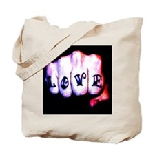 love and lust tattoo knuckles Tote Bag