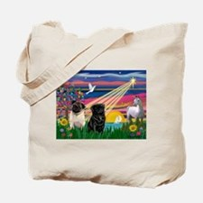 Pug Magical Night Tote Bag