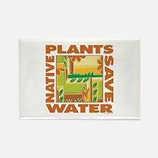 Native Plant Landscaping Rectangle Magnet