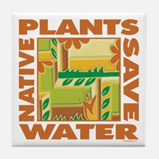 Native Plant Landscaping Tile Coaster