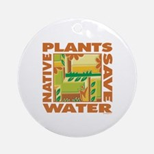 Native Plant Landscaping Ornament (Round)