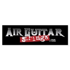 Air Guitar Strings Bumper Bumper Sticker