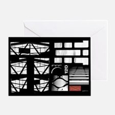 nll grt card ft 5x7 black Greeting Cards
