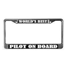 World's Best Pilot License Plate Frame