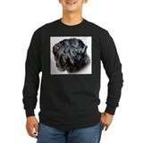 Black russian terrier Long Sleeve T-shirts (Dark)
