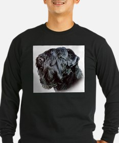 Black Russsian terrier Long Sleeve T-Shirt