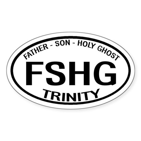 Father Son Holy Ghost Trinity Oval Sticker