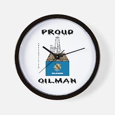 Oklahoma Oilman Wall Clock,Oil,Oil Rigs,Gas,