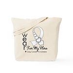 Lung Cancer Hero Ribbon Tote Bag