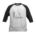 Lung Cancer Hero Ribbon Kids Baseball Jersey