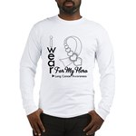 Lung Cancer Hero Ribbon Long Sleeve T-Shirt