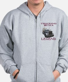 Trucking With A Legend Zip Hoodie