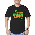 Irish Born Live Die Men's Fitted T-Shirt (dark)