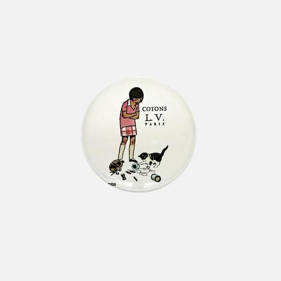 french thread ad Mini Button