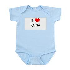 I LOVE RAINA Infant Creeper