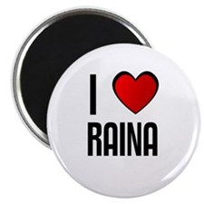 "I LOVE RAINA 2.25"" Magnet (10 pack)"